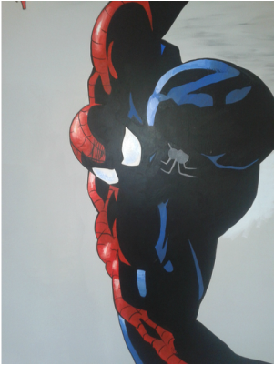 Spiderman Hand Painted Wall Mural | www.madhattercreations.co.uk