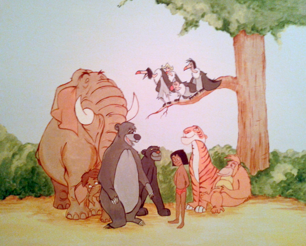 Hand Painted Jungle Book Canvas | Jungle Book hand painted canvas art